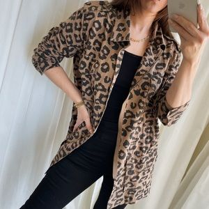 LAST 2 —Wild Leopard Jacket — Brown/Black